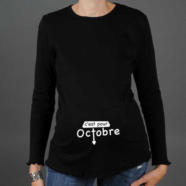 tee shirt grossesse c 39 est pour tshirt mois de naissance. Black Bedroom Furniture Sets. Home Design Ideas
