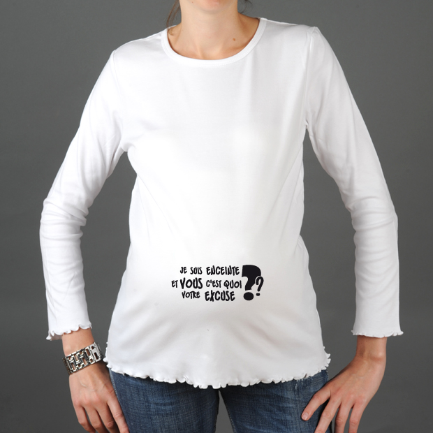 tshirt grossesse humour c 39 est quoi votre excuse les cigognes. Black Bedroom Furniture Sets. Home Design Ideas