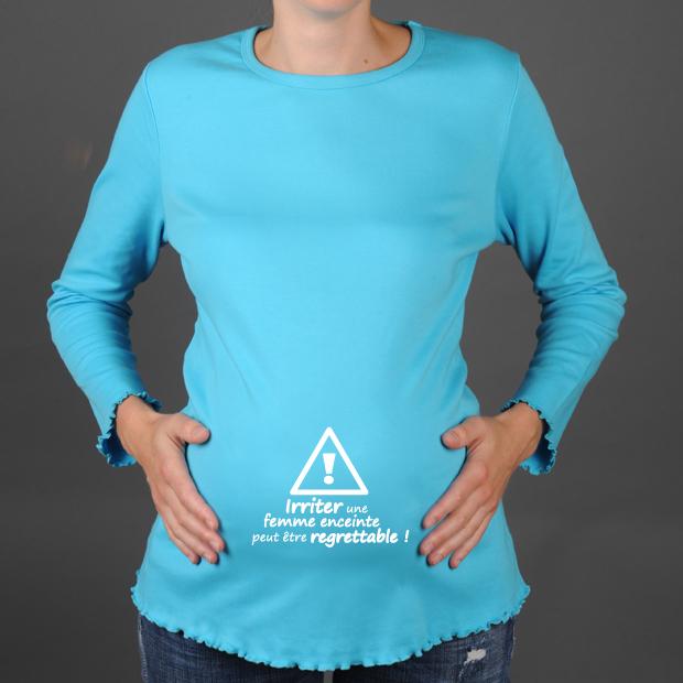 Top tee shirt de grossesse-vêtement de grossesse FC89