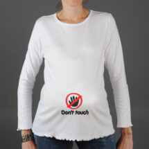 dont touch - manches longues blanc