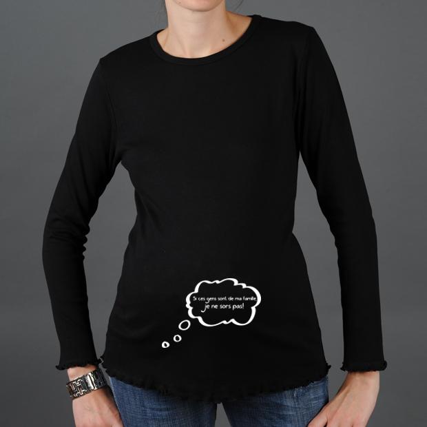 Top Tee shirt de grossesse personnalisé humoristique ! FC89