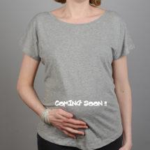 tee shirt grossesse gris