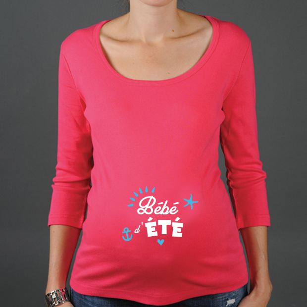 9b3162d83d4 T shirt grossesse bébé d été tshirt grossesse été