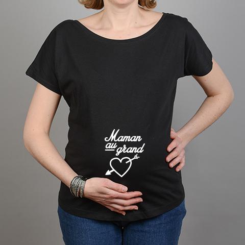 tshirt grossesse noir